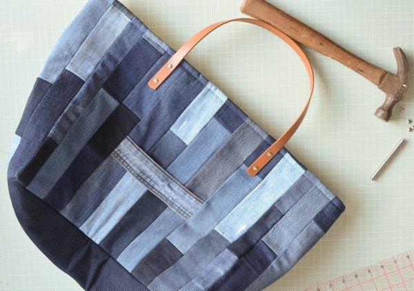 DIY denim bag from old jeans