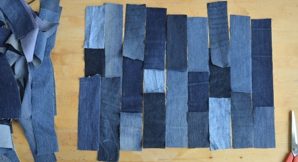 How to do patchwork with old jeans