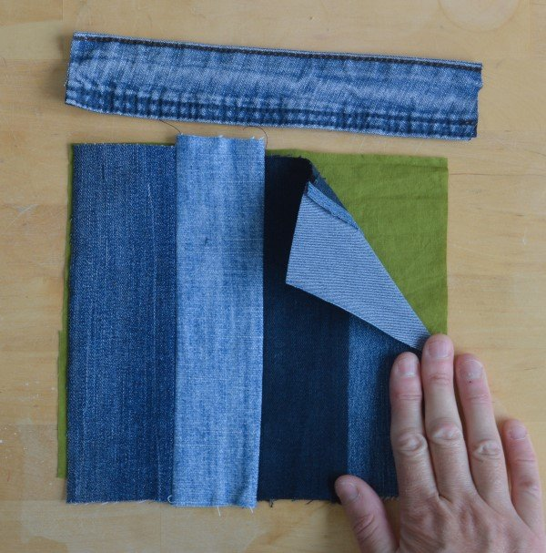 How to sew a DIY denim tote bag with pocket