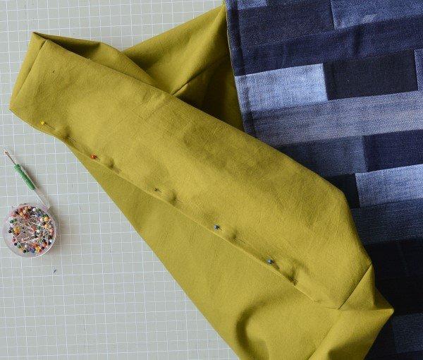 How do you make a denim bag out of jeans?