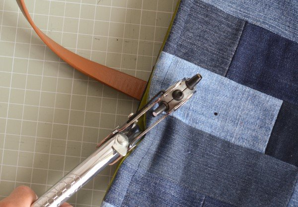 How to use a fabric hole punch