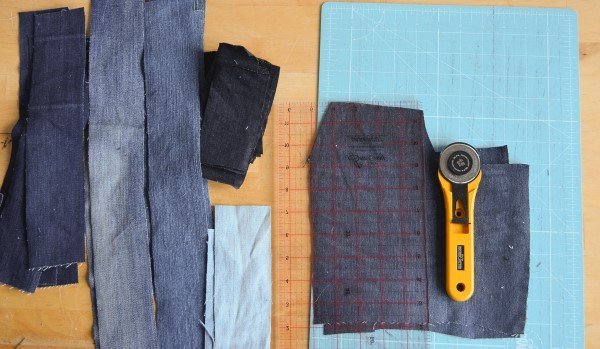 How to turn old jeans into a denim patchwork bag