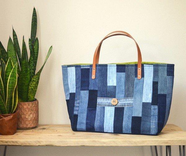 Free denim tote bag pattern