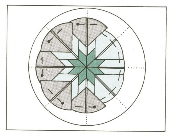Round folded fabric star ornament tutorial