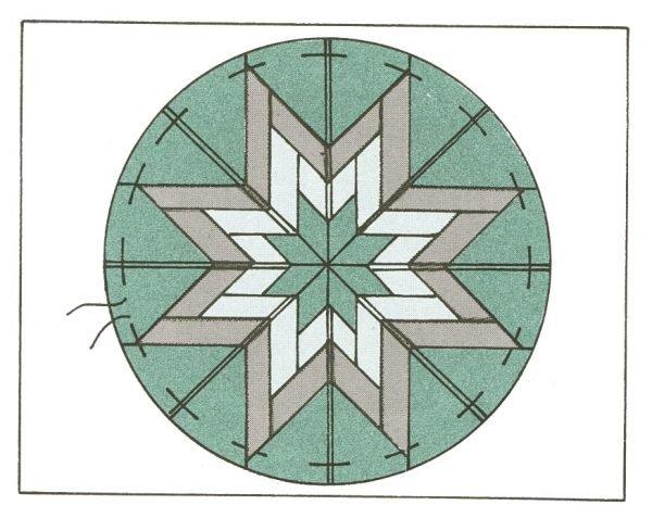 Amish folded star pattern
