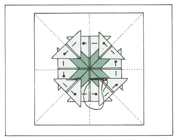 Free folded star pattern