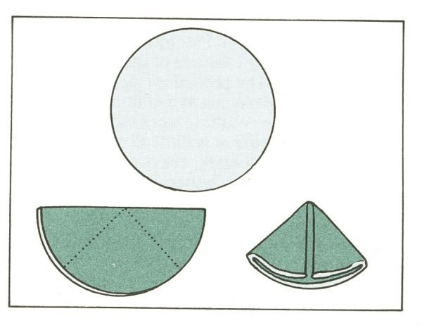 How to make a circular folded patchwork star