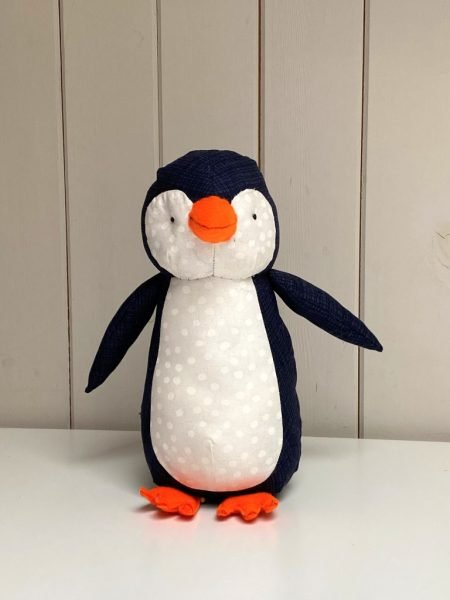 Free soft toy penguin sewing pattern