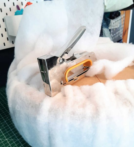 Using a staple gun for upholstery projects