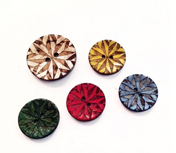 Eco-friendly buttons from coconut shell