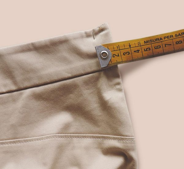 How to adjust the waist on trousers