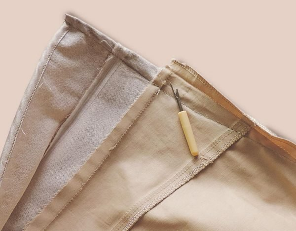How to take in the waist of too big trousers