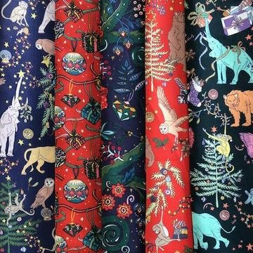 Liberty quilting fabrics Christmas