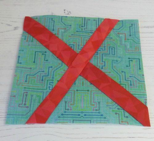 Sew a wonky cross block