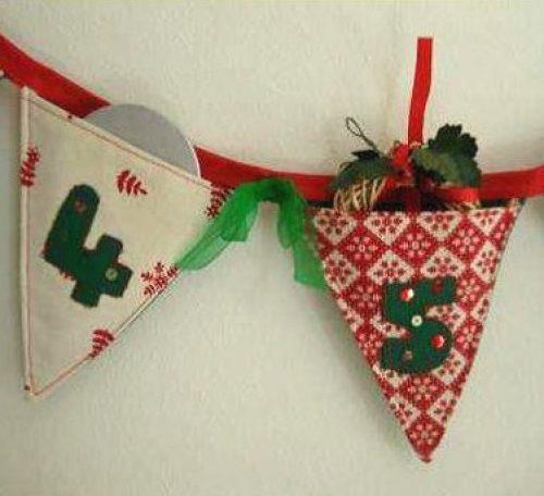 Sew advent calendar bunting