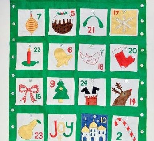 Sew a fun advent calendar to be used for generations to come