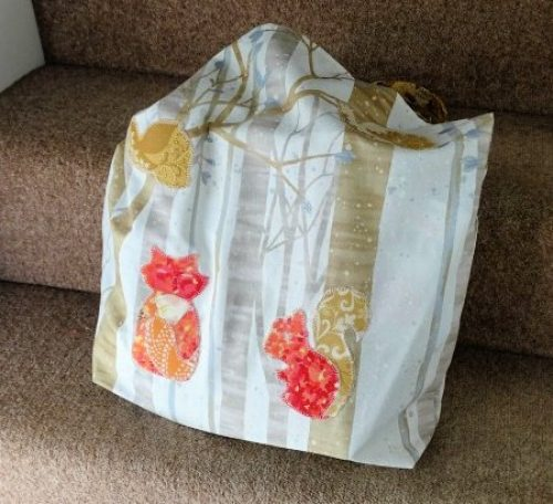 How to sew a fabric shopping bag