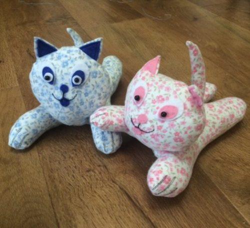 Make a cat soft toy