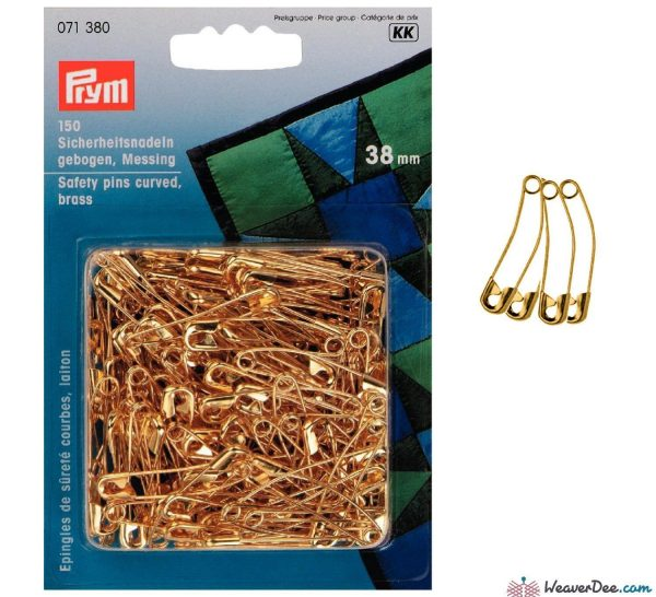 Curved safety pins for quilt basting
