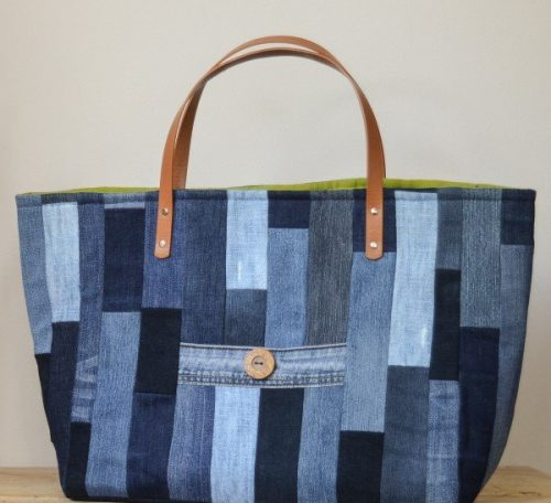 Upcycled Denim Tote Bag Project
