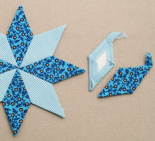 How to English Paper piece diamond shapes