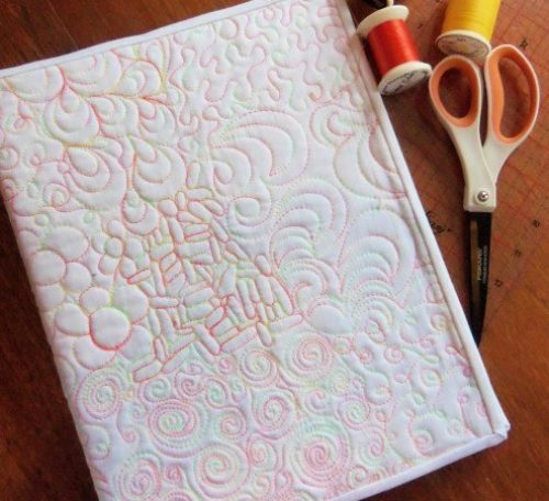 Free motion quilting binder cover project