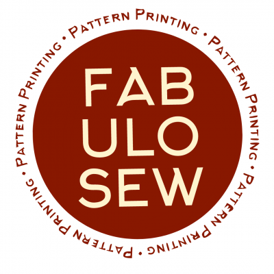 Sewing pattern printing on lightweight paper