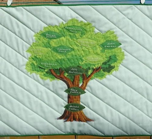 Family tree to quilt