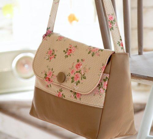 Faux leather handbag project