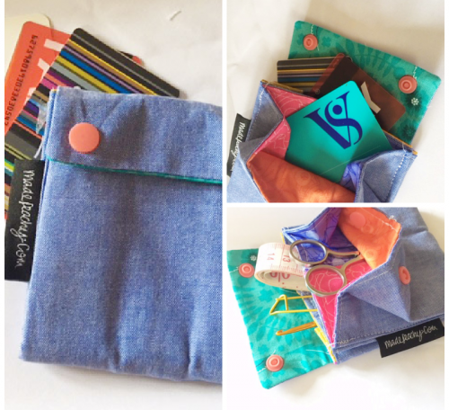 Sew a folded wallet from precuts