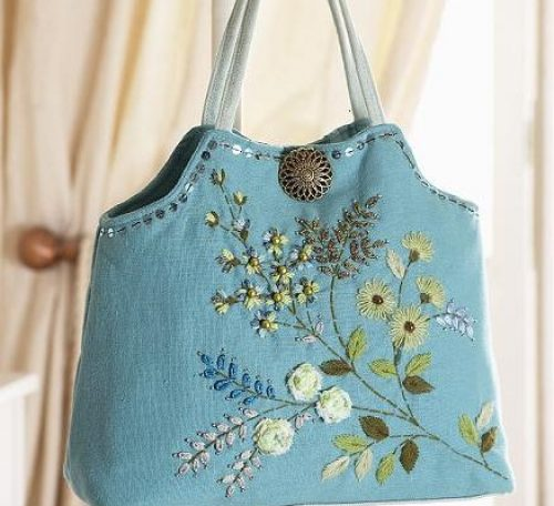 Embroidered bag project
