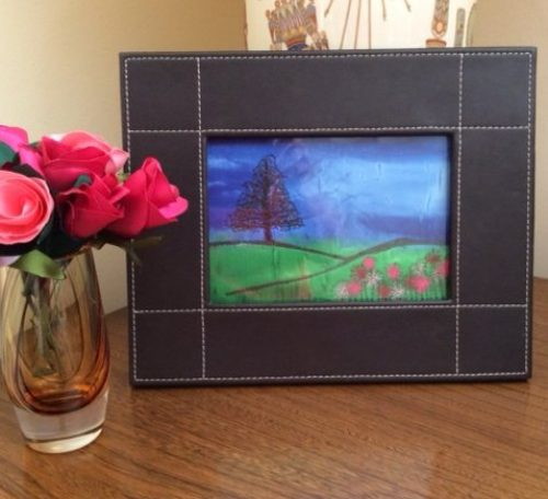 How to make a free motion embroidered picture