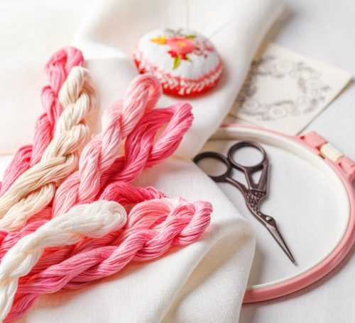 Learning embroidery stitches