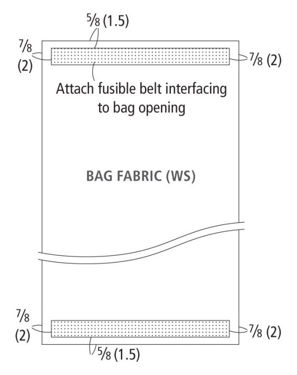 Attaching interfacing
