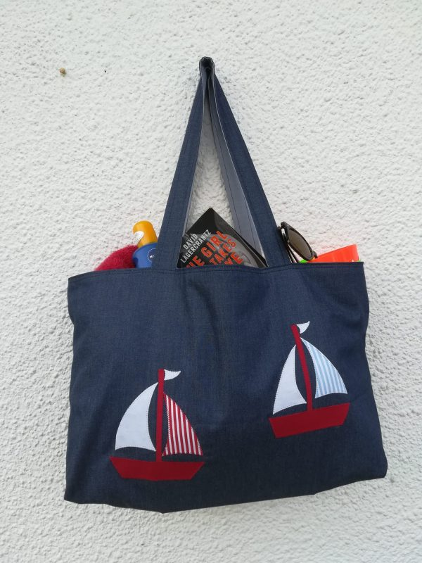 Nautical beach bag project
