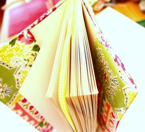 Fabric bookcover project