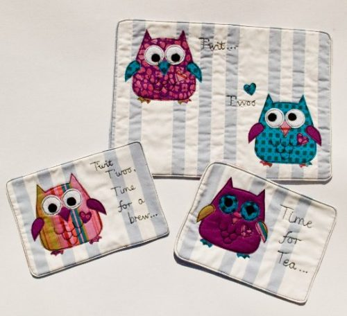Sew some owl placemats