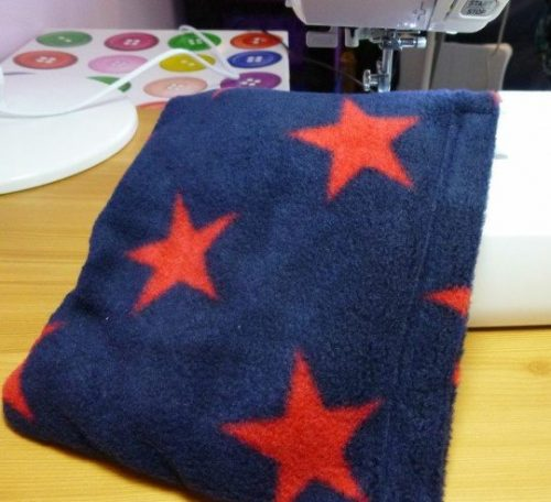 Sewing project for making a heatable what bag