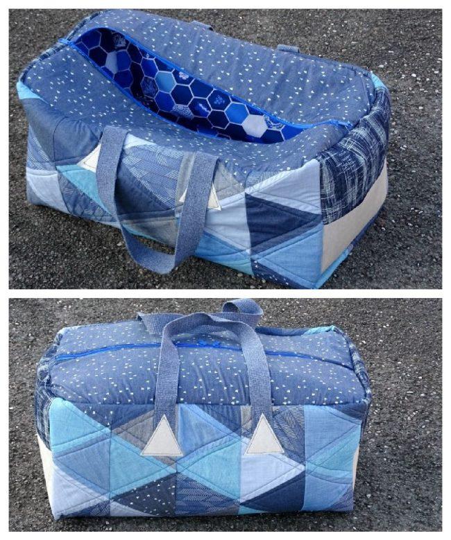 Free weekender bag sewing project
