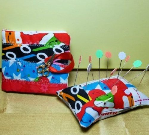 Scrap friendly pincushion and needle book project