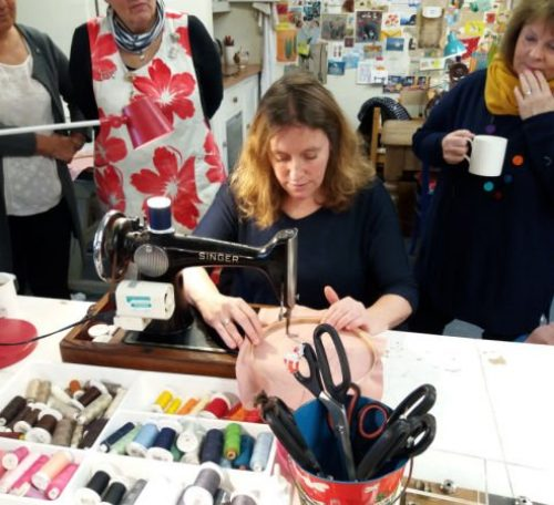 Review of Poppy Treffry's free motion embroidery course