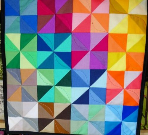 How to sew a rainbow mini quilt