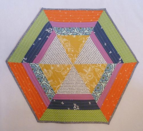 Patchwork refracted table mat
