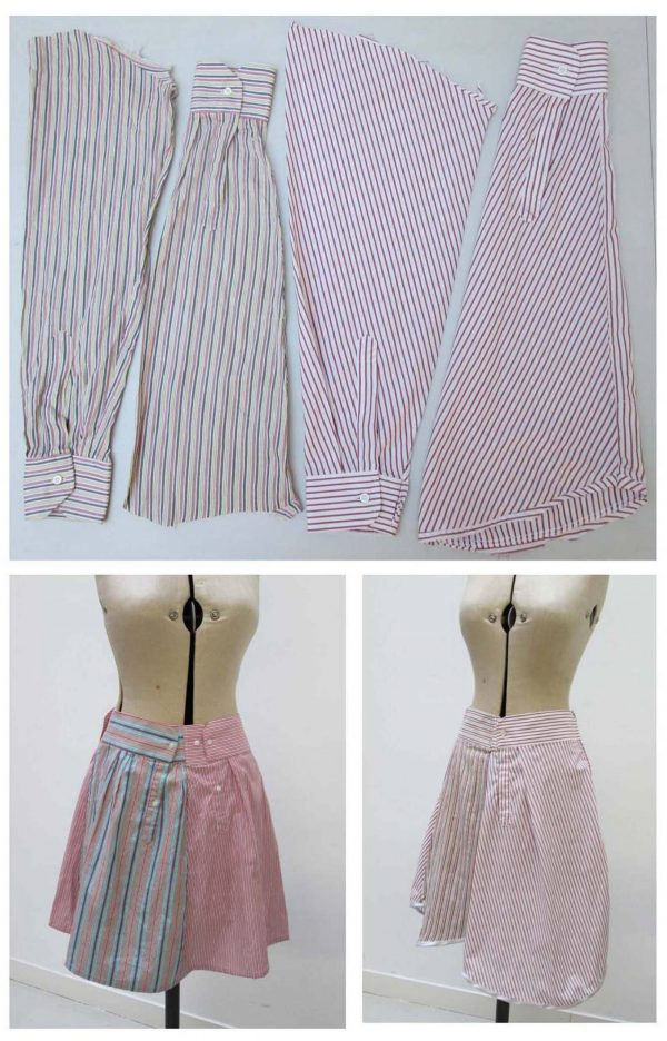 Upcycle a shirt into a skirt