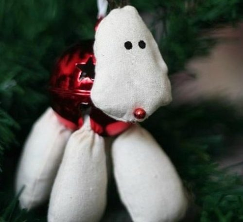 Jingle bell reindeer tree decoration project