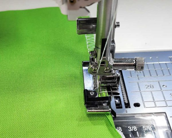 How to sew a rolled hem with an overedge foot