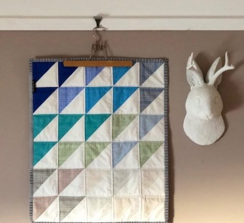 Seaglass mini quilt
