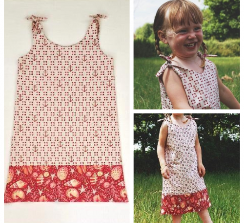 Simple sundress project collage