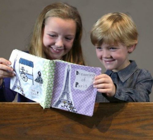Sew a fabric story book