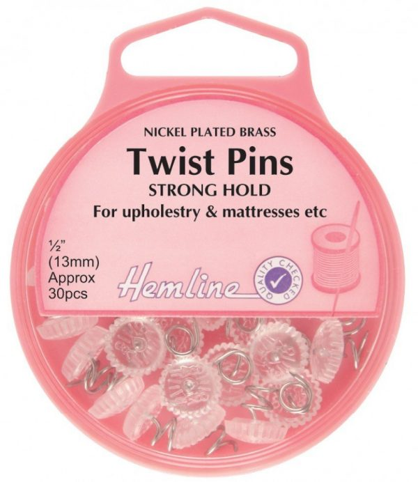 What are twist pins?
